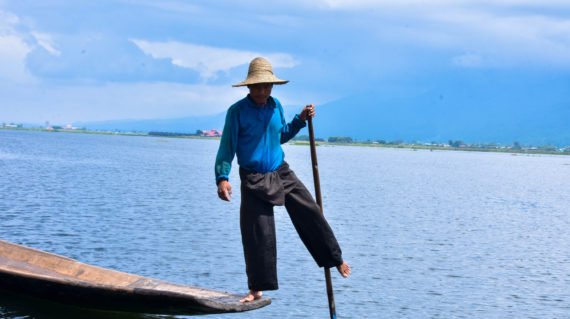 Leg rower of Inle Lake