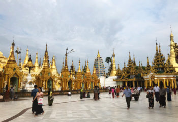Flat ground around Shwetagone Pagoda