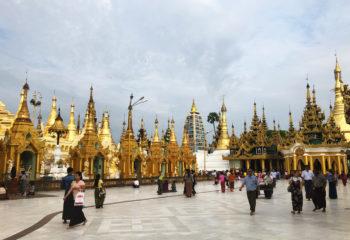 Flat ground around Shwetagone Pagoda